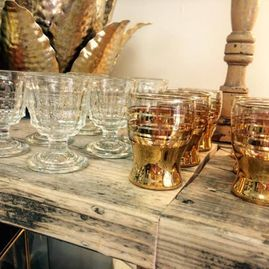 french vintage décor bishopston, bristol vintage drinking glasses